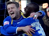 Hasselbaink set up the first and scored Cardiff's second goal