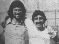 Gerry Adams with Brendan Hughes