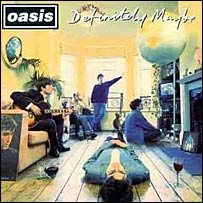 The cover of Oasis album Definitely Maybe