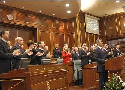 Parliament approval of declaration in Kosovo