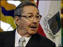 Cuba's acting President Raul Castro, 16 February 2008