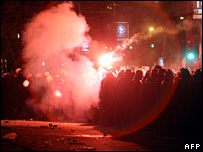 Riots in Belgrade (17 February 2008)