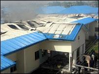 Burnt hospital
