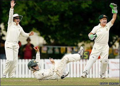 Kate Blackwell takes a diving catch to remove Beth Morgan