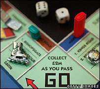 Monopoly borad for London from 2005