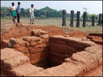The excavation site (Pic: Sanjib Mukherjee)