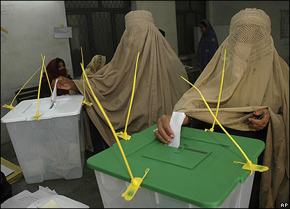 Pakistani voters in Rawalpindi