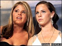 Barbara (R) and Jenna (L) Bush
