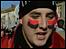 Kosovar festejando la independencia