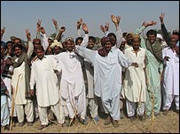 PPP supporters in Tharparkar, Sindh province