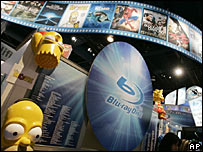The Blu-Ray Disc booth at the Consumer Electronics Show in Las Vegas last month