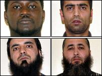 The four men convicted alongside Parviz Khan