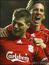 Steven Gerrard and Fernando Torres