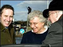 (L-R) Ian Paisley Jnr, Seymour Sweeney and Ian Paisley Snr