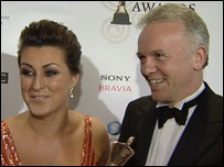 Presenters Donna Traynor and Noel Thompson collected the award