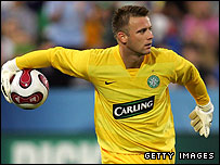 Celtic goalkeeper Artur Boruc
