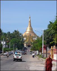 Eastern gate of Shwedagon Pagoda