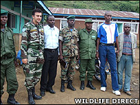 Advance party of gorilla rangers and Monuc officials (Image: WildlifeDirect)