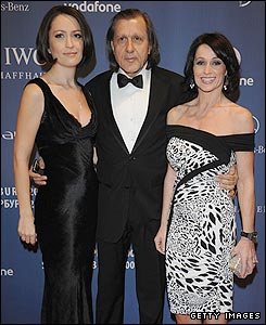 Former gymnast Nadia Comaneci (right) with tennis legend Ilie Nastase