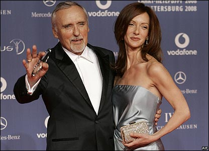 Actor Dennis Hopper and wife Victoria Duffy