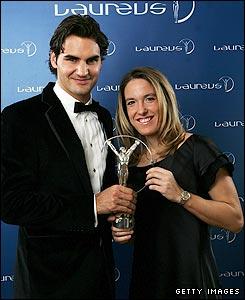 Roger Federer and Justine Henin