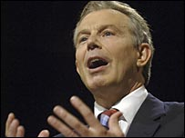 Tony Blair at the Labour Party conference in Manchester, 2006