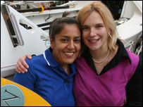 Herdip Sidhu and Elin Haf Davies (picture: Great Ormond Street Hospital)