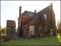 The privy is beside the farmhouse in Benenden