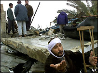 Homes destroyed in Gaza in 2002