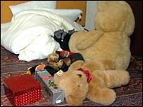 Bedroom in Steve Wright's home