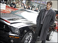 Justin Bruening of Knight Rider and his car