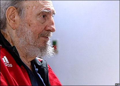 Fidel Castro convaleciente.