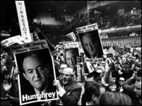 Hubert Humphrey supporters 1960 convention
