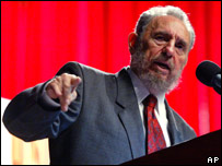 Fidel Castro during a speech in Havana, Cuba (file photo)