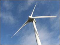 Wind turbine in Alto Minho, north of Portugal