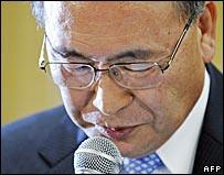 Toshiba President Atsutoshi Nishida