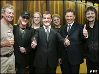 Dmitri Medvedev with members of Deep Purple
