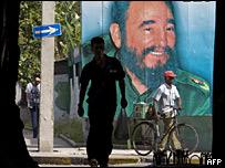 Cartel de Fidel Castro en La Habana