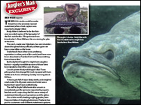 giant snakehead (courtesy of Angler's Mail)