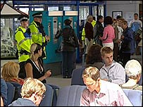 Police at Inverness Airport