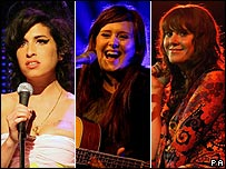 Amy Winehouse, Adele, Kate Nash