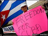 Cuban exile in Miami celebrates - 19 February 2008