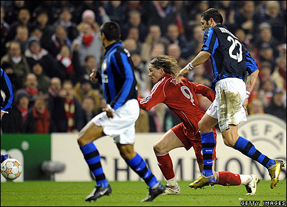 Fernando Torres provides a constant threat up front for Liverpool