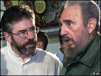 Gerry Adams with Fidel Castro