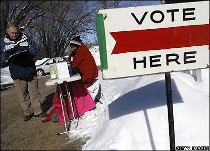 Polling station in Wisconsin