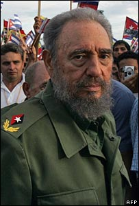 Fidel Castro takes part in a rally in Holguin, Cuba,  in July 2006