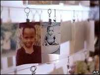 Photographs of Rwandan children killed in 1994 at the Kigali Memorial Center