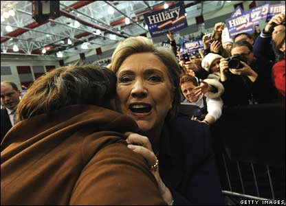 Hillary Clinton campaigns in Youngstown, Ohio, on Tuesday evening