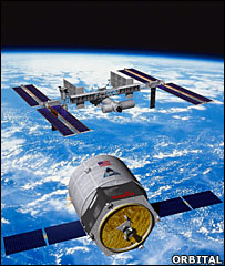 Artist's impression of Cygnus (Orbital)