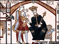 Bayeux tapestry image of King Harold